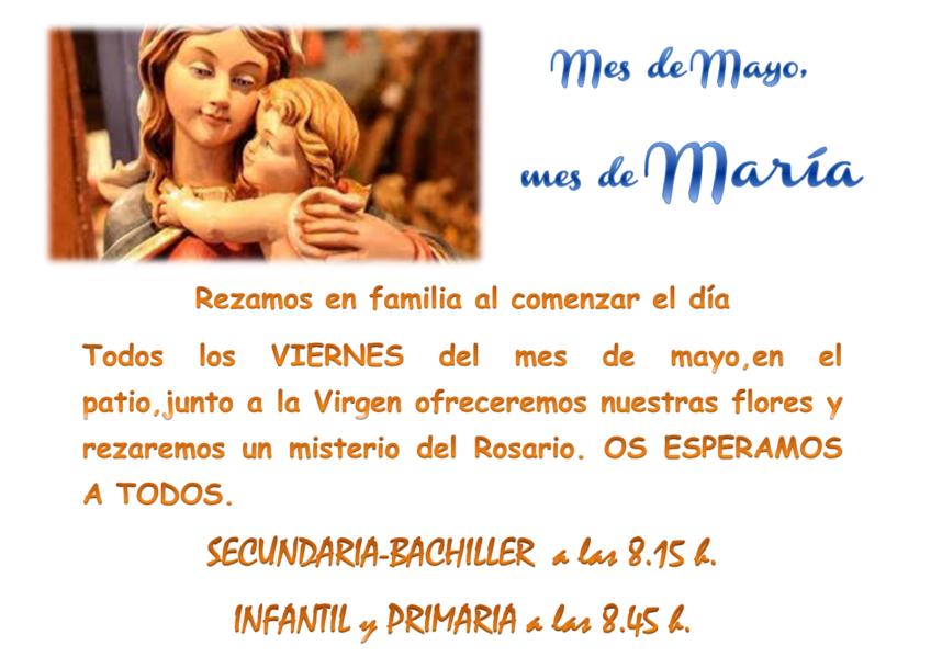 Mes de mayo, mes de María, rezamos en familia