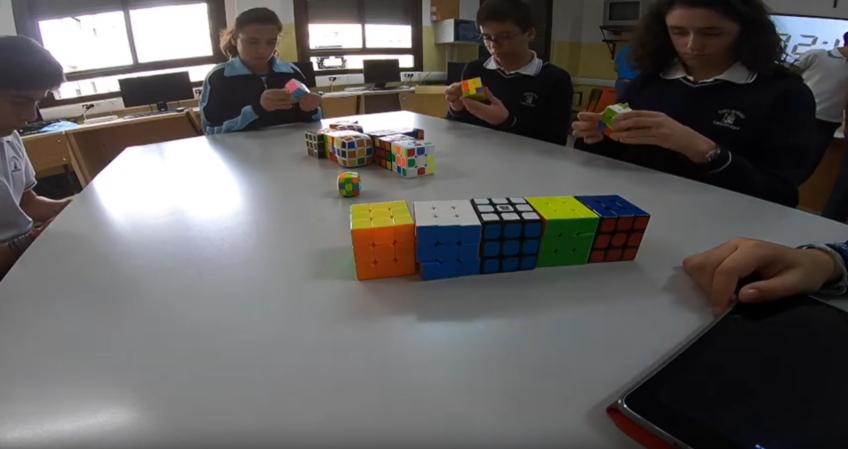 Participación del Colegio Cristo Rey Jaén, en el proyecto a nivel nacional de Cubo de Rubik. Pruebas Primera Fase.