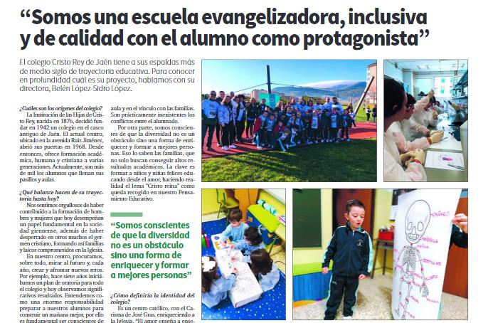 Nuestro Colegio Cristo Rey entre los mejores centros educativos de España